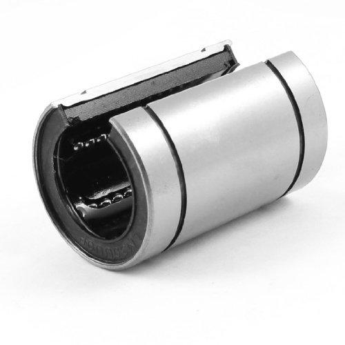 eDealMax 45 millimetri Diametro esterno d'argento tono Nero Linear Motion Cuscinetti a sfera LM30UU