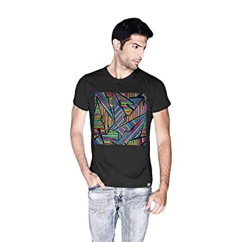 Creo Abstract 02 Retro T-Shirt For Men - Xl, Black