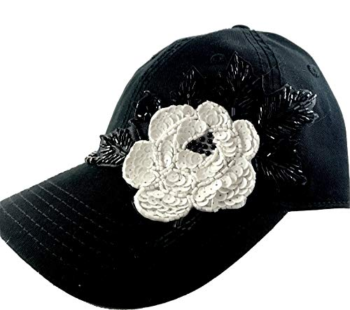 Designs Embellished Fashionable - Shop DAYLE Womens Trucker Hat with Bead Sequin Floral Design