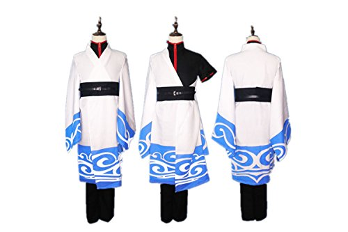 Love Gintama Cosplay Costume-Sakata Gintoki 5Pcs Set