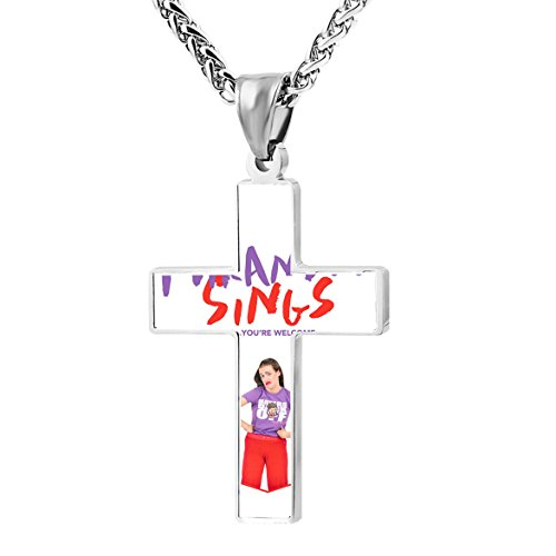 Jimmy Fallon Kids Costumes (Miranda Sings Front Cover Customization Cross Religious Jewelry Pendant Ornament Necklace 24 Inch)