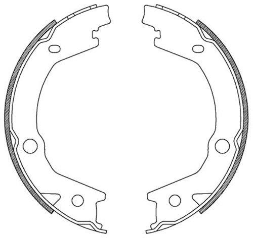 Bremsbel/äge NB PARTS GERMANY 10038349 Bremsscheiben /Ø 247 mm VOLL HINTEN