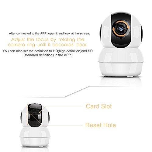 Hommie Caméra de Surveillance 1080P HD WiFi 2,4 GHz, Caméra IP en Temps  Réel avec Audio Bidirectionnel, Vision Nocturne et Détection de Mouvement,  ... 97bb493d39d1