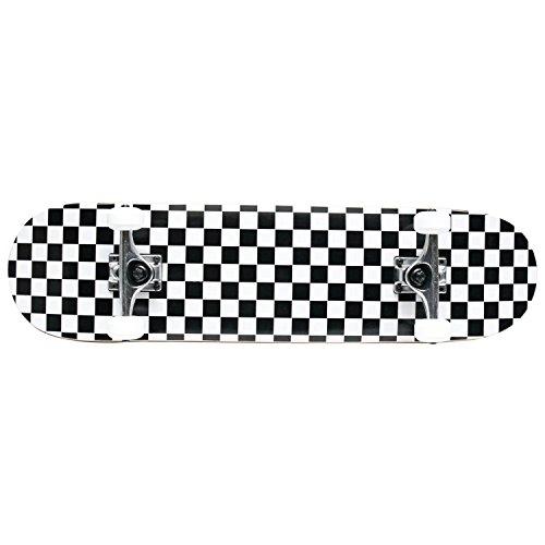 Checker Complete Skateboard (PRO Skateboard Complete Pre-Built CHECKER PATTERN 7.75 in Black/White)