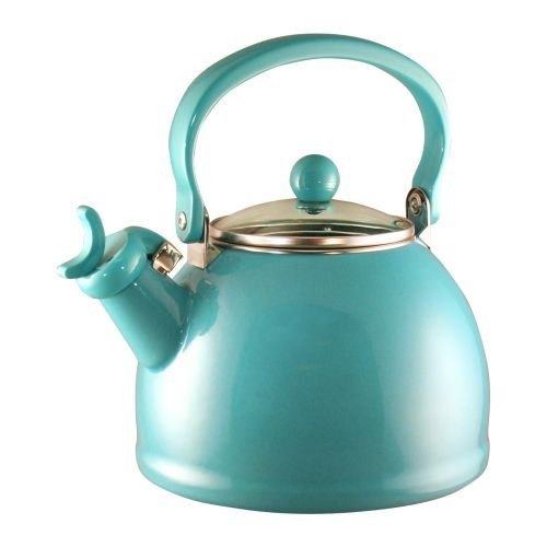 whistling tea kettle turquoise - 8