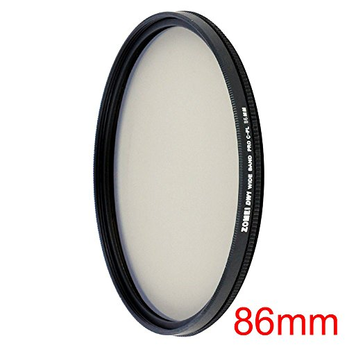 55 Mm Thickness Overall (ZOMEI Ultra Slim AGC Optical Glass PRO CPL Circular Polarizing Polarizer Lens Filter - 86mm + WINGONEER Diffuser)