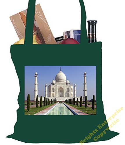 Shopping Size Birthday original 38 10 from bag of photo India cm range 42 Gym An tote The an unique Tote Mahal Beach reuseable 69 litres with Taj filler our Bag Green stocking image x or Christmas 6d6ACwq