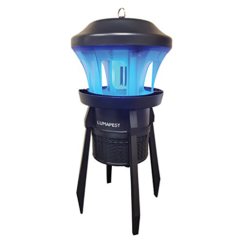 Insect Trap & Bug Zapper By Lumapest: UV Light Attractant For Mosquitos, Bugs, Gnats & Wasps  Fly Zapper With Suction Fan  Outdoor & Indoor Nontoxic Bug Killer With A Removable Base