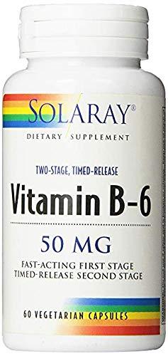 Solaray B-6 TSTR Supplement, 50mg, 60 Count (3 Pack)