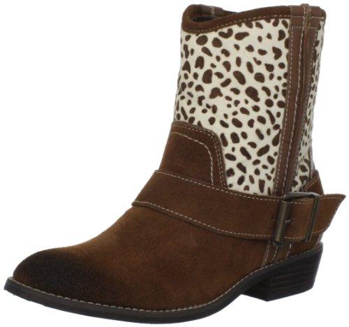 Kelsi Dagger Brooklyn Women's Tempest Ankle Boot, Cognac/Giraffe, 9 M US (Boots Print Zebra)