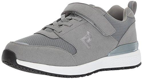 Propet Men's Stewart Work Shoe, Grey, 13 5E US