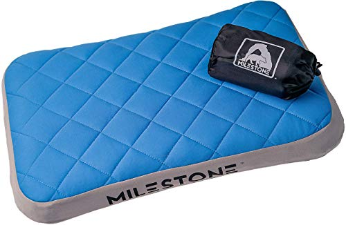 MILESTONE Outdoors Inflatable Pillow   Soft Washable Cover
