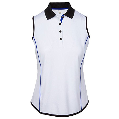 Greg Norman Women Sleeveless Piped Golf Polo Previous Season