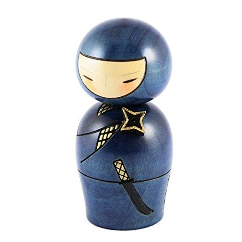 Kokeshi Doll–Ninja blu Kokeshi Doll-Ninja blu JAPAN CRAFT