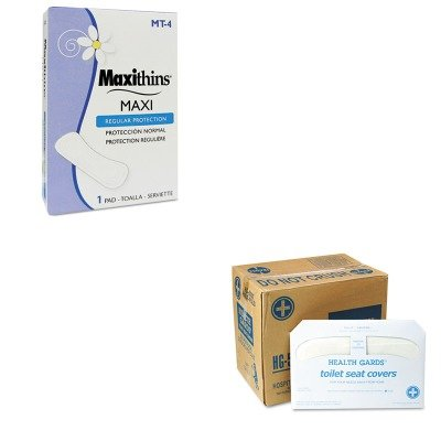 KITHOSHG5000CTHOSMT4 - Value Kit - Hospeco MT-4 Maxithins Thin, Full Protection Sanitary Napkins (HOSMT4) and Health Gards Toilet Seat Covers (HOSHG5000CT)