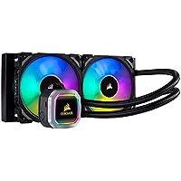 Corsair Hydro Series H100i RGB Platinum 120mm Processor Liquid Cooling System with RGB Lighting (Black/Silver)