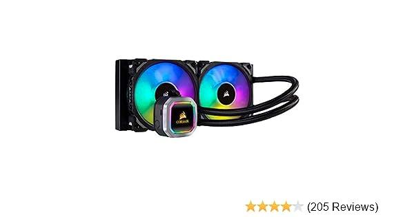 CORSAIR H100i RGB PLATINUM AIO Liquid CPU Cooler,240mm,Dual ML120 PRO RGB  PWM Fans,Intel 115x/2066,AMD AM4/TR4