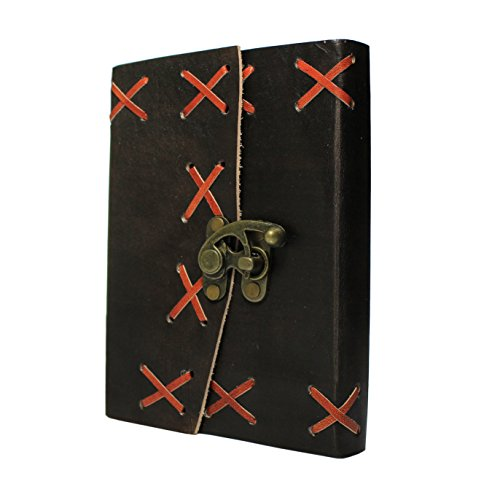 Handmade Leather Journal Diary Notebook Personal Travel Journal Recipe Book Organizer With Lock 7 x 5 Inches Birthday Housewarming Anniversary Gifts F…