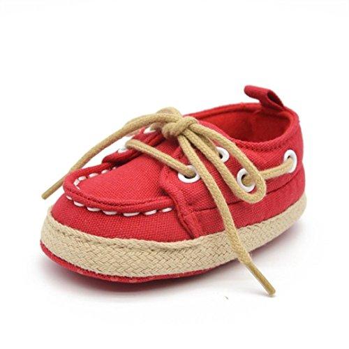 Dacawin Infant Kid Boys Girls Solid Tie Crib Anti-Slip Soft Sole Denim Sandals Shoes (0-6 Month, (Decorative Deck Fringe)