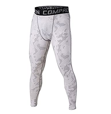 Wogiz Men and Yonth Boy Fitness Compression Pants Running Tights Length Pants Leggings