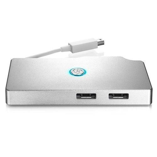 AKiTiO Thunder SATA Go Hub SSD Reader with Tethered Thunderbolt Cable and 2x eSATA Host Ports