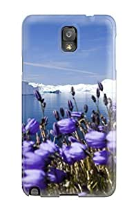 High Quality CaseyKBrown Purple Arctic Flowers Skin Case Cover Specially Designed For Galaxy - Note 3