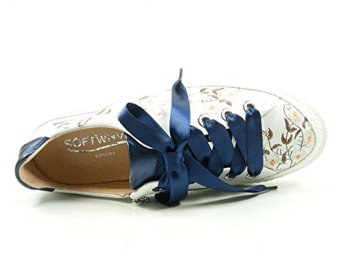 Softwaves 7-01-30b Scarpe Sneakers Basse Da Donna Scarpe Stringate Blu