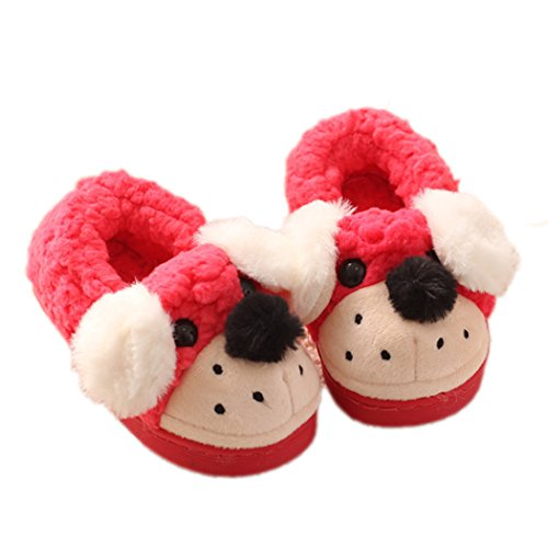 MiYang Kids Cute Dog Winter Warm House Slippers Booties