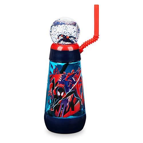 Disney Spider - Disney Marvel Spider-Man Snowglobe Tumbler with Straw - Spider-Man: Into The Spider-Verse
