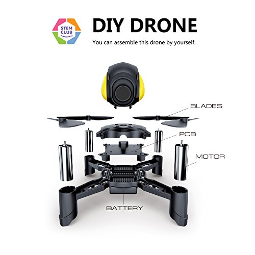 Maxxrace Rc toys DIY Mini Racing Drone Headless Mode 2.4Ghz Nano LED RC Quadcopter Altitude Hold Good for beginners- Black