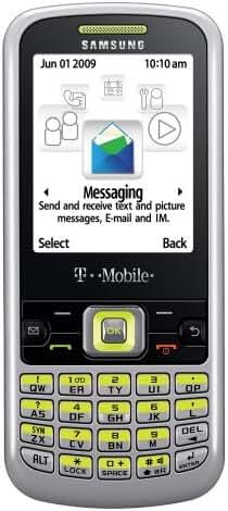 Samsung t349 Prepaid Phone, Silver/Lime (T-Mobile)