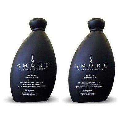 (Lot of 2 Bottles Supre Smoke Black Bronzer Indoor Tanning Bed Lotion 10.5 Oz)