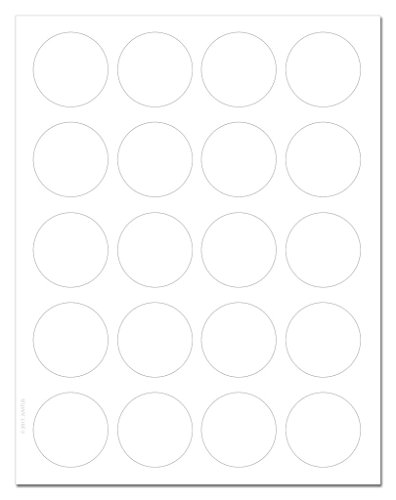 (Standard White Matte Circle Labels, 1.75 inch Diameter, with Downloadable Template and Printing Instructions, 10 Sheets, 200 Labels (XR75))