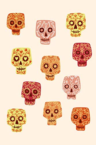 Notes: A Blank Guitar Tab Music Notebook with Cute Sugar Skull Cover Art