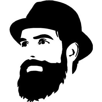 Onlinemart mustache man sides windows bumper hood car sticker amazon in car motorbike