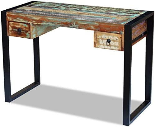 Festnight Reclaimed Wood Console Table Office Computer Desk
