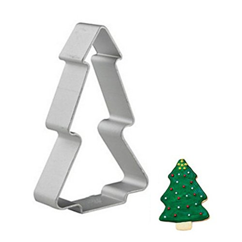 1 piece Aluminium Mold pine tree Shaped Buscuit Cookie Cake Mold Pastry Baking Cutter ()