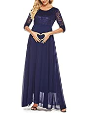 Molliya Maternity Long Dress Long Sleeve Off Shoulder Ruffles Stretchy Maxi Photography Dress