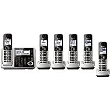 Panasonic KX-TGF375S + 1 KX-TGFA30S Handset (6 Handsets Total) Bluetooth Cordless Phone System with Dual Keypad (Certified Refurbished) (KX-TGF370S + 5, KX-TGF372S + 4, KX-TGF373S + 3, KX-TGF374S + 2) One line phone
