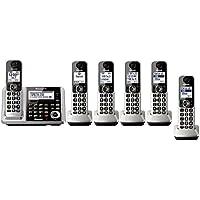Panasonic KX-TGF375S + 1 KX-TGFA30S Handset (6 Handsets Total) Bluetooth Cordless Phone System with Dual Keypad (Certified Refurbished) (KX-TGF370S + 5, KX-TGF372S + 4, KX-TGF373S + 3, KX-TGF374S + 2)