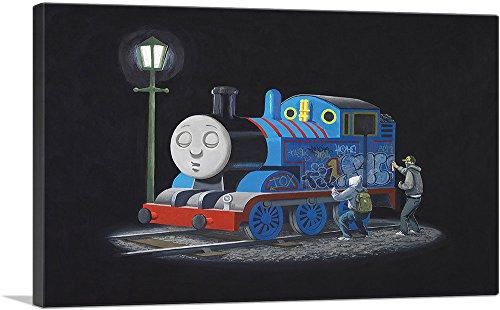 ARTCANVAS Thomas The Tank Engine Canvas Art Print by Banksy-40