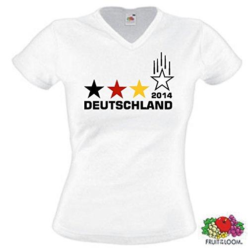 Deutschland Weltmeister 2014 Damen T-Shirt 4 Sterne Trikot|M