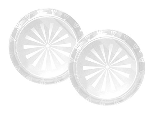 Party Essentials Hard Plastic 12-Inch Round Serving Trays, Crystal Clear (Crystal Cake Platter)