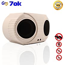 7ok - pest repeller. Indoor, electronic - ultrasonic (sonic; sound) pest control, rats and mice repeller, rodent repellent plug in, squirrel repeller. [2018 UPGRADED]