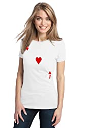 ACE OF HEARTS Ladies' T-shirt / Card Costume Tee Shirt, Magic Trick Tee