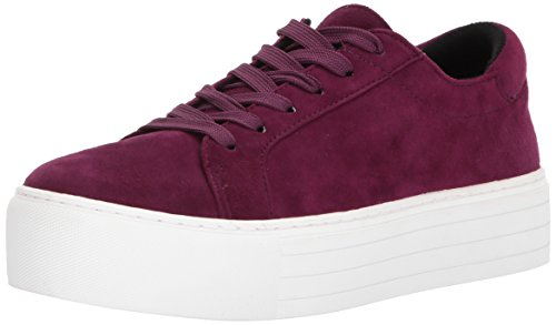 Kenneth Cole New York Women's Abbey Platform Lace up Suede Sneaker, Eggplant, 7.5 Medium US