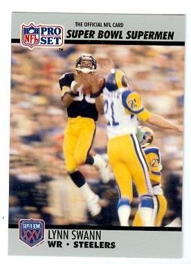 Lynn Swann football card (Pittsburgh Steelers) 1990 Pro Set #52 Super Bowl Supermen