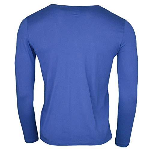 Pour Longues Lauren Marine Bleu shirt Femme T Manches Ralph xFaAw0qIF