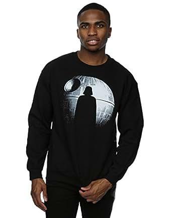 Star Wars Men's Rogue One Death Star Darth Vader Silhouette Sweatshirt XXX-Large Black