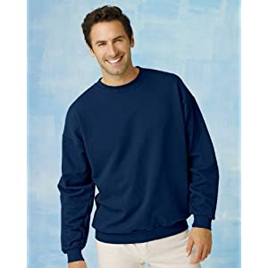 Hanes 7.8 oz COMFORTBLEND EcoSmart Fleece Crew (White, Large)